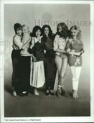 """1991 Press Photo Dolly Parton and Others Co-Stars in """"Steel Magnolias"""""""