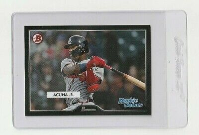 2019 Ronald Acuna Topps On Demand 1955 Bowman Style Rookie Debuts Insert / 217