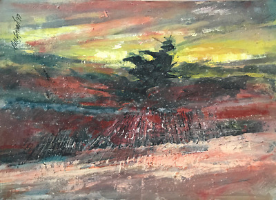 Provincetown Cape Cod Dune Fence 10x12 in. Acrylic on panel  Hall Groat Sr.