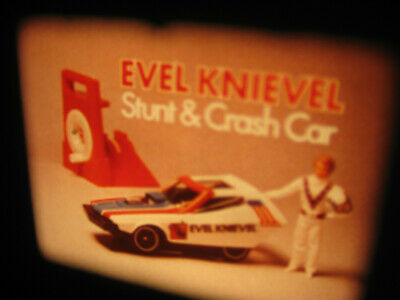 VTG 16mm IDEAL TOY Film Commercial - EVEL KNIEVEL STUNT AND CRASH CAR L