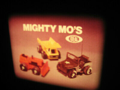 VTG 16mm IDEAL TOY Film Commercial - MIGHTY MO FRICTION CAR   P