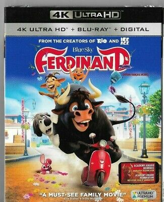 New Sealed 4K Ultra HD - Blu-Ray - Digital - FERDINAND -  Also In French