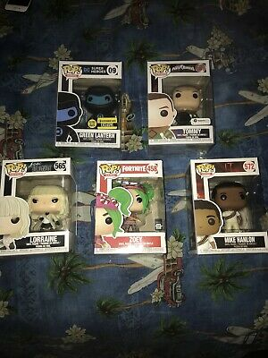 Funko Pop Lot of 5 With Exclusives Comes With Protective Case