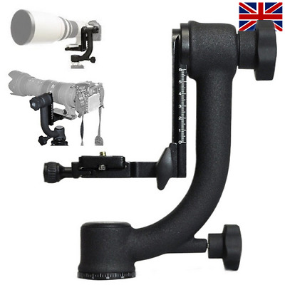 Andoer Heavy Duty Panoramic Gimbal DSLR Camera Tripod Head Quick Release Plate