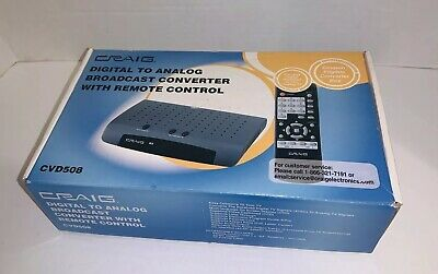 Craig Electronics CVD508 Digital To Analog Broadcast Converter with Remote