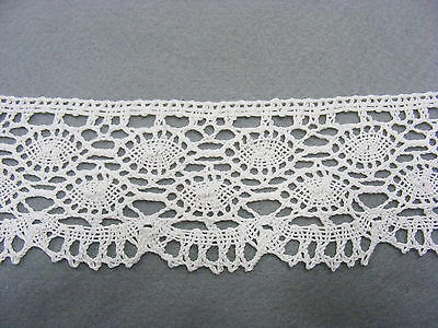 Cluney Cotton White Lace 65mm Wide 5mts SECOND