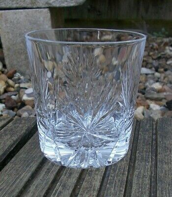 "Edinburgh Crystal ~ Star of Edinburgh Cut 3"" Glass / Tumbler ~ Signed"