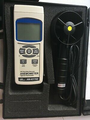 Lutron Am-4217Sd Anemometer Digital Test Equipment With Probe - Boxed