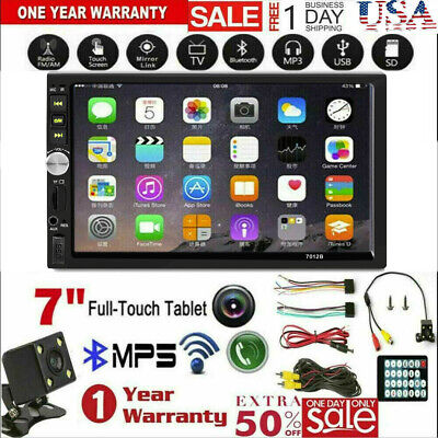 7 Inch DOUBLE 2DIN Car MP5 Player BT Tou+ch Screen Stereo Radio HD+Camera