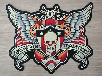 Biker schwarz 7.5x6.0 Application badges Mexican Tradition Iron on patches