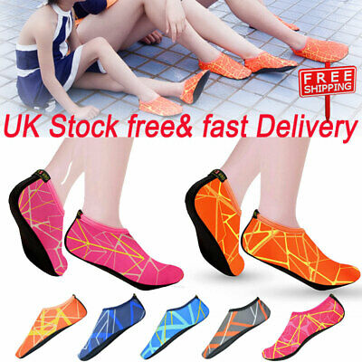 Women Men Water Shoes Aqua Socks Diving Socks Wetsuit Non-slip Swim Beach Sea UK