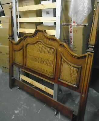 DREXEL HERITAGE French Provincial Style Wood & Cane King Size Headboard   - H65