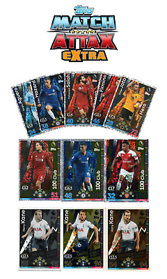 Match Attax Extra 2018/19 18/19 100 Club, Le, Hat Trick Hero Full Sets All Mint!