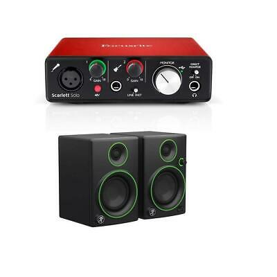 Focusrite Scarlett Solo 2nd Gen 2 Input/ 2 Output Audio Interface Mackie CR3 3""