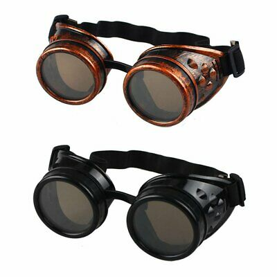 Cyber Goggles Steampunk Glasses Vintage Retro Welding Punk Gothic Victorian TS
