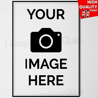 Personalised Custom Photo Art Image Poster Gift Print  **LAMINATION** A4 A3
