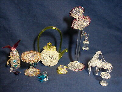 Awesome Vintage Lot of 5 Flawed Miniature Spun /Blown Glass Pieces