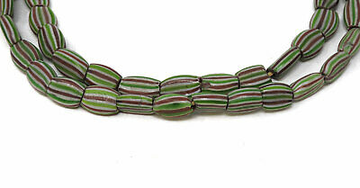 Rainbow Chevron Venetian Trade Beads Striped Melon Africa SALE WAS $33.00