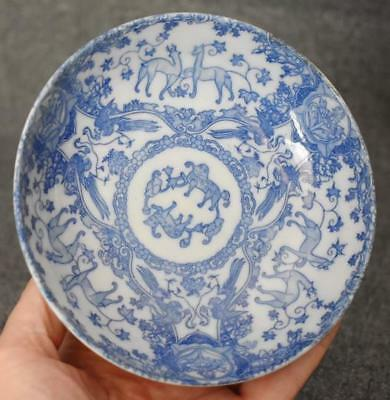 Lovely Antique Chinese Blue And White Porcelain Bowl
