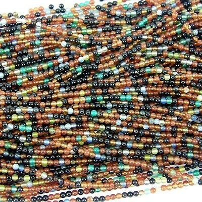 Copper Mixed Beautiful String of glass seed beads - size 11/0 (approx 2mm) 180+