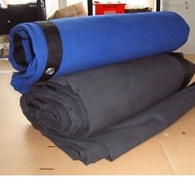 Blue and Green Wrestling Boxing ring canvas sheet 12x12 feet in Black