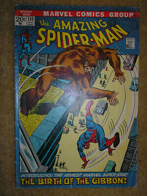 AMAZING SPIDER-MAN # 110 1st APP GIBBON NDS VARIANT ROMITA 20c MARVEL COMIC BOOK