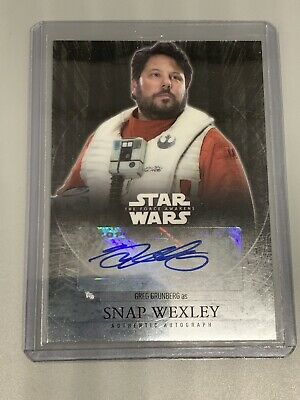 2016 Topps Chrome Star Wars Force Awakens Autograph Greg Grunberg as Snap Wexley