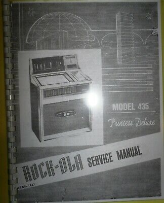 """Parts Manual /& Troubleshooting Rock Ola 435 """"Princess Deluxe""""  Complete Service"""