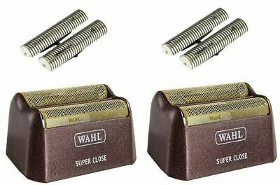 (2) - Wahl Pro 5 Star Series 7031-100 Replacement Foil & Cutter Assy Red Gold