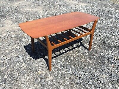 Vintage Mid Century NATHAN Coffee Table TEAK retro Danish Style G Plan Era VTG