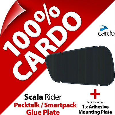 Cardo Scala Rider Replacement Spare Glue Plate for PackTalk Bold Slim SmartPack