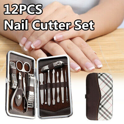 Clever Design Manicure / Pedicure 12 PCS Tools Set Kit Nail Clipper Clean Ear US