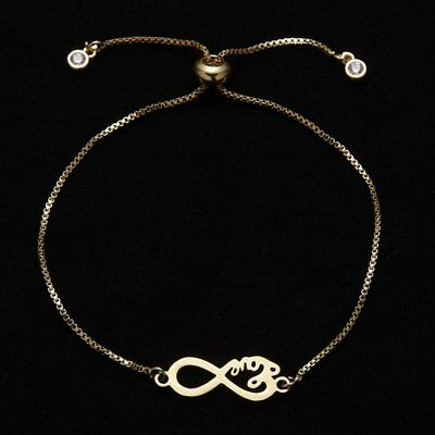 New Fashion Womens Jewelry Stainless Steel Infinity Charm Bracelet Mother's Day