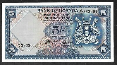 Uganda - Old 5 Shillings Note (1966) P1a - Flawless Uncirculated
