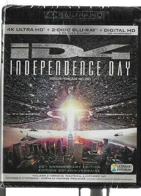 New Sealed 4K Ultra HD + Blu-Ray - Digital - ID4 INDEPENDANCE DAY -  Also French