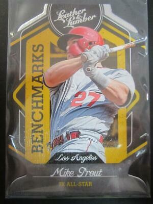 Mike Trout 2019 Panini Leather and Lumber Benchmarks #3 Los Angeles Angels MG
