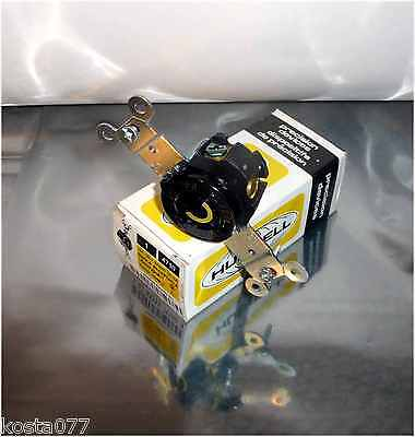 NOS, HUBBELL Precision Devices, Single 125V 15A Twist-Lock Receptacle, HBL4710