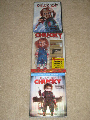 Chucky DVD collection Childs Play Parts 1-5 Plus Cult of Chucky Blu-Ray