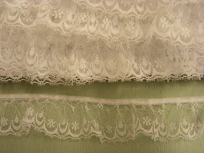 Gathered Lace White  20 metres  (163a) Second