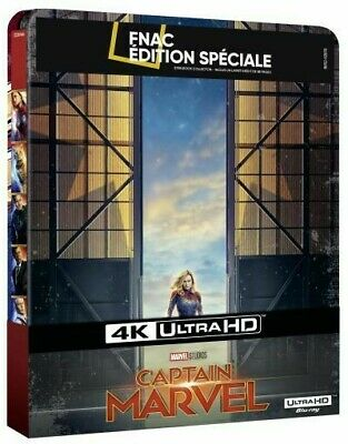 "Blu Ray Steelbook 4K ""Captain Marvel"" Edition Livret Fnac (exemplaire N°1)"