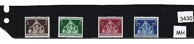 MH Stamp set / 1936 Congress of Municipalities/  Germany / Third Reich / MH