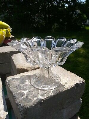 Antique Early Sandwich Glass Loop Pattern Large Compote