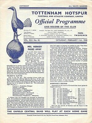 Tottenham Hotspur Reserves v Southend United Reserves Combination Cup 1949/50
