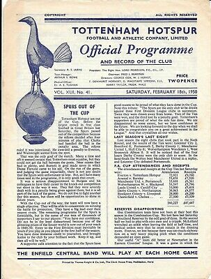 Tottenham Hotspur Reserves v Crystal Palace Reserves Combination Cup 1949/50