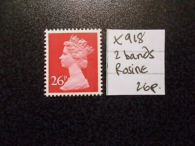 GB 1971+~ Machin~26p~SG X918~Two Band~Rosine~Unmounted Mint~UK
