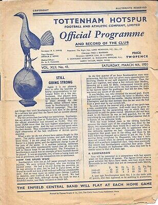 Tottenham Hotspur Reserves v Chesea Reserves Combination Cup 1949/50