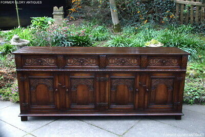 Titchmarsh And Goodwin Carved Oak Dresser Base Sideboard Phone Lamp Table Stand