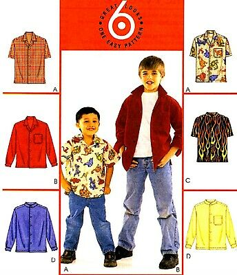 McCall/'s 6222 Sewing Pattern to MAKE Boys/' Button-Down Shirt Vest /& Cargo Pants