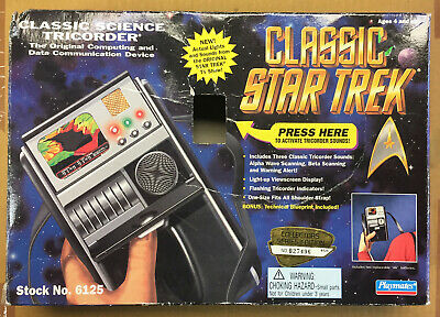 Star Trek Classic Science Tricorder; Playmates Works Tested with Box; 1995