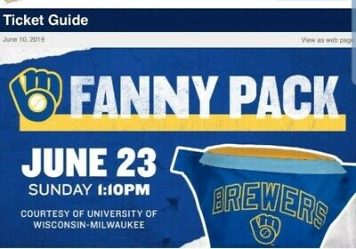 2019 Milwaukee Brewers Fanny Pack Bag Stadium Giveaway June 23 Free Shipping SGA